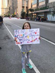 Isabella at the Chicago Marathon