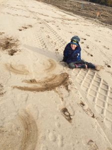 Tommy in the sand